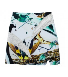 OopsCool Kadın Etek Sequined Gold Skirt Etek 15Y502
