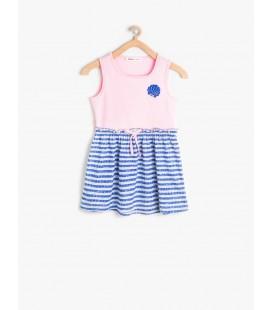 Koton Pembe Kız Çocuk İşlemeli Elbise 6YKG89340GKBT4