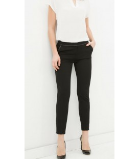 Koton Kadın Siyah Normal Belli Pantolon 6YAK42899CW999