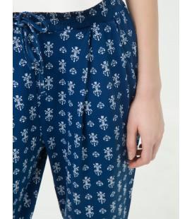 Koton Kadın Desenli Pantolon - Lacivert 6YAK43483TK75A