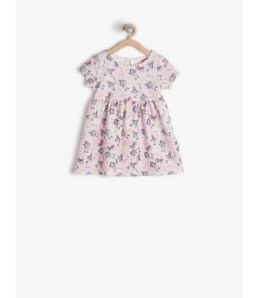 269a4809ae8c4 Koton Kids Pembe Kız Çocuk Desenli Elbise 7KMG89540OKA04 - Gümrük Deposu