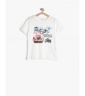 Koton Kids Kısa Kollu, Bisiklet Yaka T-Shirt  7KKB18227LK001