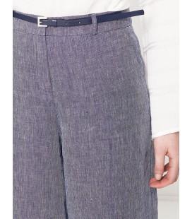 Koton Kadın Keten Pantolon - İndigo 7YAK42535UW740