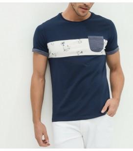 Koton Erkek Baskılı T-Shirt - Lacivert 6YAM11453KK725