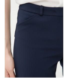 Koton Bayan Dar Kesim, Düz, Normal Bel Lacivert Pantolon  6YAK43967EW740