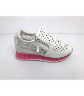 Pembe Beyaz Kadın Yazlık Spor Ayakkabı
