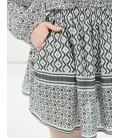 Koton Kadın Etnik Desenli Etek - Siyah 6YAK78012BWI92
