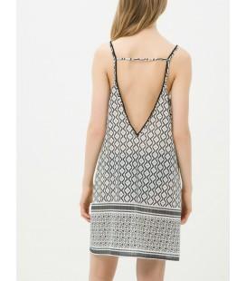 Koton Kadın Etnik Desenli Elbise - Siyah 6YAK88519BWI92