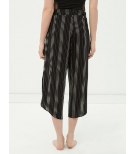 Koton Kadın Desenli Plaj Pantolonu - Siyah 6YAK48997BW01V