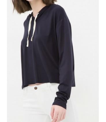Koton Kadın Kapüşonlu Sweatshirt - Lacivert 6YAL11233OK746