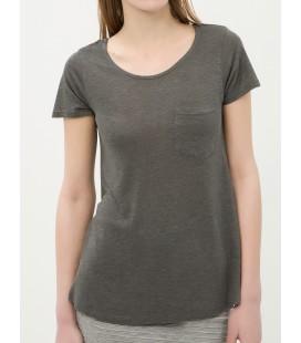 Koton Oyuk Yaka, Kısa Kollu, Cep Detaylı T-Shirt  6YAK12568YK029