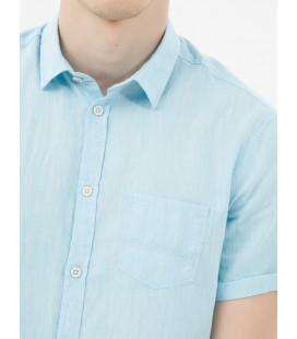 Koton Erkek Cep Detaylı Gömlek - Mavi 6YAM62438KW600