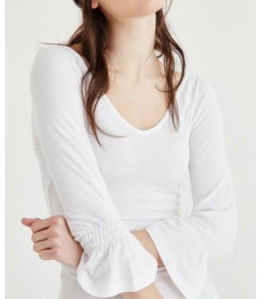 Oxxo Kadın Beyaz T-Shirt OX-KASMIMNEW