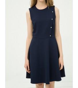 Koton Kadın Düğme Detaylı Elbise Lacivert 6YAK82702UW710