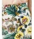 Koton Kadın Çiçekli Etek Yeşil 6YAK73548EWD99
