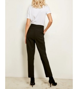 Trendyol Milla Kadın Kuşaklı Siyah Pantolon TOFAW19BB0681