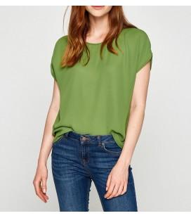 Koton Kadın Oyuk Yaka Bluz Yeşil 7YAK62107CW789