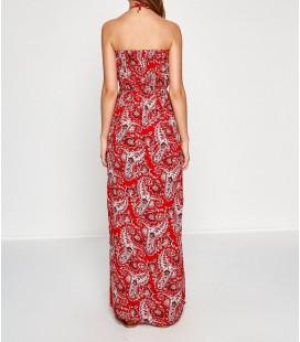Koton Kadın Desenli Elbise Kırmızı 7YAK83363OW01D