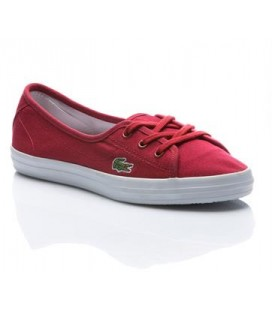 Lacoste Bayan Ayakkabı ZIANE CHUNKY LCR Koyu Kırmızı Kadın Sneaker