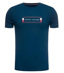 Tommy Hilfiger Erkek Corp Box Logo T-Shirt MW0MW12510