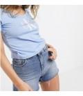 Calvin Klein Kadın Alaska Mavi Tişört ZM0ZM01261
