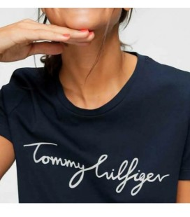 Tommy Hilfiger Kadın Siyah Nolimitt Neck Logo Tshirt WW0WW24967