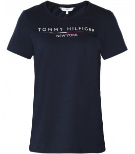 Tommy Hilfiger Kadın Organic Cotton Lacivert Tişört MW0MW10368