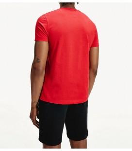 Tommy Hilfiger Organic Cotton Logo Detaylı Erkek Kırmızı Tişört MW0MW14302XLG