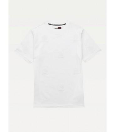 Tommy Hilfiger Erkek Beyaz Tişört RE0RE00562