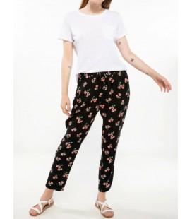 Defacto Kadın Çiçek Desenli Rahat Kesim Pantolon J4058AZ