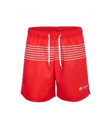 California Forever Kırmızı Çizgili Erkek Deniz Şortu SH94011-1004