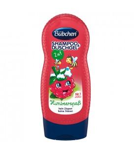Bübchen Çocuk Şampuanı ve Duş Jeli Frambuaz 230ml