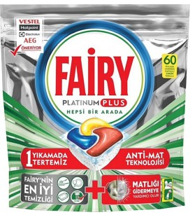 Fairy Platinum Plus 60 Adet Bulaşık Makinesi Tableti