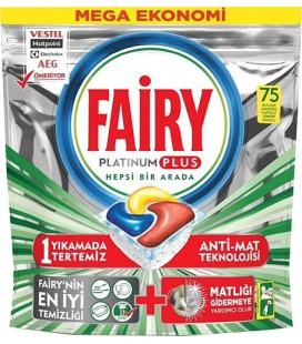 Fairy Platinum Plus 75 Adet Bulaşık Makinesi Tableti