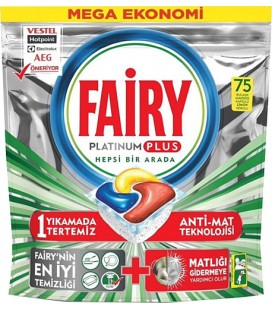 Fairy Platinum Plus 75 Adet Bulaşık Makinesi Tableti