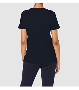 Tommy Hilfiger Kadın Lacivert Nolimitt Neck Logo Tshirt WW0WW24967