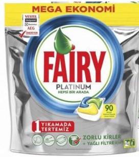 Fairy Platinum Limon Kokulu 90 Tablet Bulaşık Makinesi Deterjanı