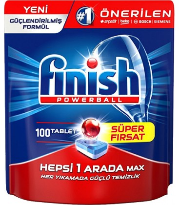 Finish Hepsi Bir Arada 100 Tablet Bulaşık Makinesi Tableti