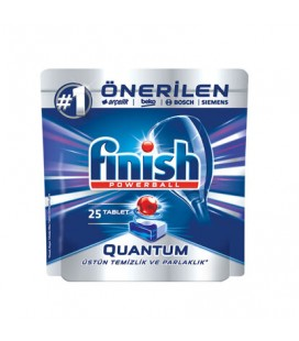 Finish Quantum 25'li Bulaşık Makinesi Tableti