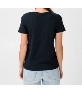 Tommy Hilfiger Alissa Kadın Baskılı Lacivert T-shirt WW0WW27136