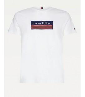 Tommy Hilfiger Organik Cotton Erkek Beyaz Tişört MW0MW14306