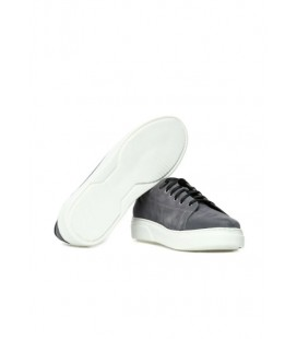 Dıvarese Hakiki Deri Gri Nubuk Erkek Sneaker 5023199