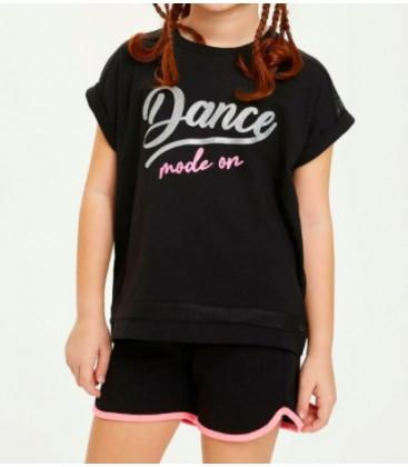 Defacto Kız Çocuk Baskılı Kısa Kollu T-shirt N9036A6