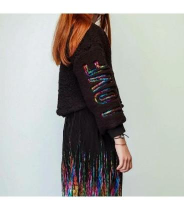 B&G Store Tyess Kız Çocuk Siyah Sweatshirt 19fw1tj4428