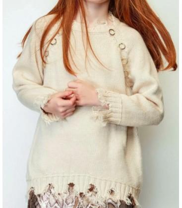 B&G Store Kız Çocuk Bej Kazak 19FW2TJ4441