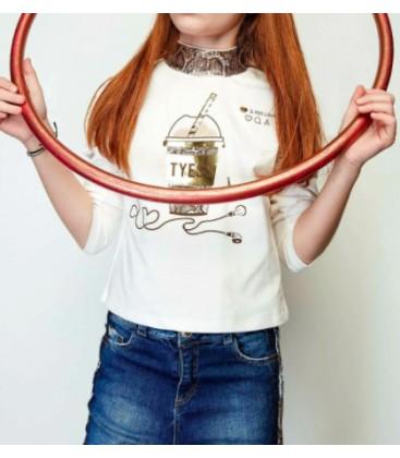 B&G Store Kız Çocuk Ekru T-shirt 19FW2TJ452