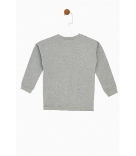 B&G Store Tyess Kız Çocuk Gri Sweatshirt 19FW2TJ4446