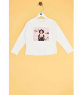 B&G Store Tyess Kız Çocuk Beyaz T-Shirt 19FW2TJ4526