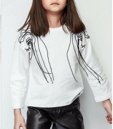 B&G Store Tyess Kız Çocuk Ekru Sweatshirt 19FW1TJ4430