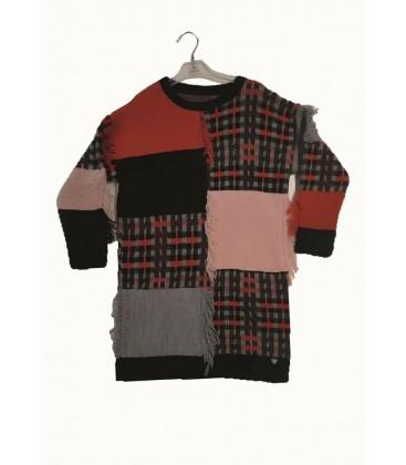 B&G Store Tyess Kız Çocuk Desenli Elbise 19FW2TJ4922
